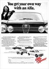 ALFA ROMEO GTV SPIDER GIULIA SUPER RANGE RETRO A3 POSTER PRINT FROM 60'S ADVERT