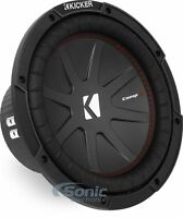"Kicker 43CWR102 400W RMS 10"" CompR Dual 2-Ohm Car Subwoofer Car Audio Sub Woofer"