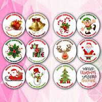 48x Personalised Christmas Stickers Labels Gift Tags Presents Santa Reindeer Elf