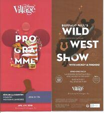 Euro Disney Disneyland programme du Disney Village avril 2018 countryTTB