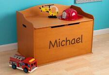 KidKraft 14954-PZ Kids Personalized Austin Toy Box Storage Bench Chest Honey NEW