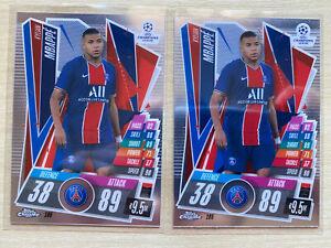 20/21 Topps Chrome Match Attax Paris Saint-Germain Kylian Mbappe Base card Lot2