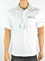 Greg Norman Attack Life Mens Polo Shirt New M XL White Play Dry Athletic UPF 50