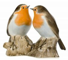 Robin Bird Salt & Pepper Pots By Quail Ceramics British Bird Salt & Pepper