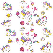 Einhorn Sticker Tattoo I farbenfrohe temporäre Tattoos Unicorn Kinder Geburtstag