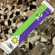 New Km Paintball Universal Mask Goggle Strap - 09 Filipino White/Purple/Green