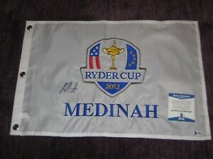 BUBBA WATSON (PGA) Signed 2012 RYDER CUP Embroidered Flag with Beckett COA
