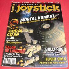 Magazine Joystick [n°42 Oct 93] Atari Amiga PC Mac 3DO Mortal Kombat *JRF