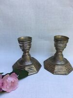 2 X Vintage Silver Plate Stylish Candlesticks