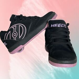Heelys Propel 2.0 Skate Shoes Black/Purple Youth Size 4  Womens Size 5