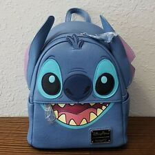 Disney Parks Stitch Faux Leather Loungefly Mini Backpack Lilo NWT