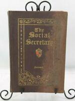 Antique The Social Secretary Detroit Michigan 1921 Edition SN