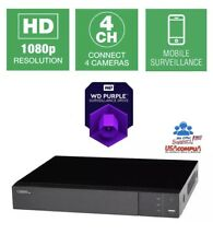 Q-See 4 Channel DVR 4CH QTH43-1  1080p BNC Surveillance Recorder Analog HD 1TB