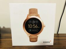 Fossil Gen 3 Q Venture Smartwatch, Rose Gold, Sand Leather FTW6005