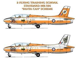 1/72 RAAF Decals; Macchi MB.326H 2FTS Fanta Can WA Map