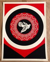 Shepard Fairey Obey Giant PEACE DOVE Signed Numbered Screen Print RARE