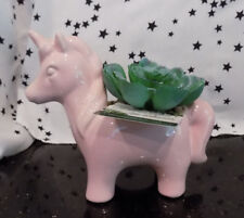 Unicorn Planter Succulent Small Window Garden New Gift Pink Unicorn