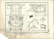 Stampa antica LAVORAZIONE LEGNO Pl17 Enciclopedia Diderot 1790 Old antique print