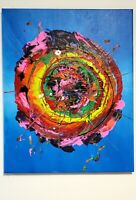 Art Original abstract acrylic painting on canvas signed by artist  Wall Decor
