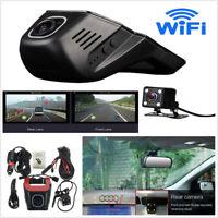 Mini FHD 1080P Hidden Wifi Car DVR Dash Video Recorder Dual Lens Camera+G-Sensor