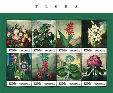 Tanzania 2013 - Flora Sheet of 8 Stamps MNH