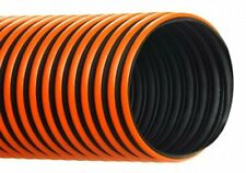 4''ID RFH HOSE/DUCTING BLACK THERMOPLASTIC RUBBER WITH ORANGE WEARSTRIP, 50 FT