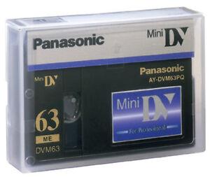 1 Panasonic AG-DVX100 Pro Mini DV tape for DVX100A PV GS80 GS39 GS500 camcorder