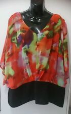 Ladies plus size 22 Beautiful colourful Top by Grace Hill,  BNWT
