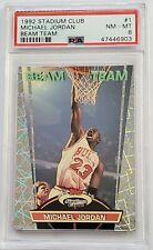 1992 Stadium Club Michael Jordan Beam Team #1 - PSA 8 - NM - MT