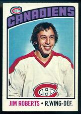1976-77 OPC O PEE CHEE #119 JIM ROBERTS NM MONTREAL CANADIENS HOCKEY CARD