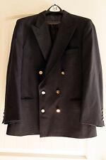 Vtg Burberry Burberrys' Prorsum Blazer Jacket Navy Blue Double Brested 100% Wool