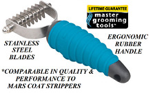 Master Grooming Tools 8 Blade Stripping STRIPPER Hair Mat Breaker Comb RAKE Coat