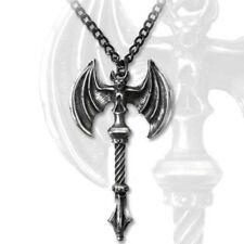 SteamPunk Victorian Alchemy Gothic Skullcrusher Pendant Necklace, NEW UNUSED