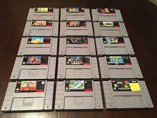 SNES Game Lot of 15 (Yoshi's Cookie, Safari, P.T.O II, Star Wars Jedi, Spawn)