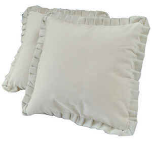 Set of 2 or 4 Velour Scatter Cushions - COMPLETE WITH PLUMP FILLED INNERS
