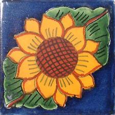 C#025) MEXICAN TILES CERAMIC HAND MADE SPANISH INFLUENCE TALAVERA MOSAIC ART