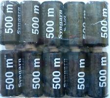 Surtido Hilo De Coser 10 x 500m Negro (€ 0,10/100 m)