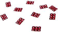 100 Confettis 6 STRASS Rouge Décoration de Table Mariage Baptême fête