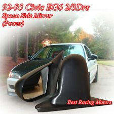SPN Style Side Mirrors ABS Black (Power) Fits 92-95 Honda Civic 2/3dr