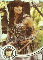 Xena Season 4 and 5 W8 Face of a Warrior insert card  Lucy Lawless