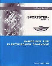 HARLEY Anleitung zur elektrischen Diagnose 2003 Sportster Custom Hugger DEUTSCH