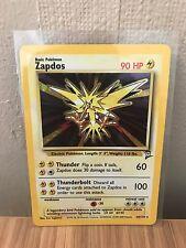 Zapdos (20/130) Base Set 2 Holo Pokemon Card. Near Mint Condition