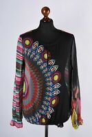 Desigual Multicolored Long Sleeve Shirt Size L
