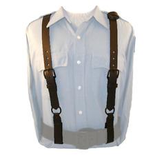 "Boston Leather 9180-1 Black 1-1/4"" Police Suspenders All Black Hardware"