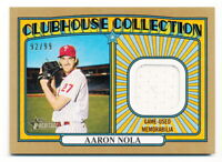 AARON NOLA 2021 TOPPS HERITAGE CLUBHOUSE GOLD GAME-USED JERSEY RELIC #92/99