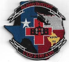 US Army C Co 2-149 AVN Aviation Alamo Dustoff Patch Vel back