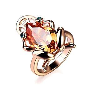 18K Rose Gold Filled Made With Genuine Swarovski Crystal Lucky Frog Ring