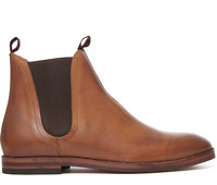 H By Hudson Tan Tamper Leather Smart Chelsea Ankle Shoes Work Boots 6 40 - 10 44