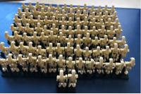 120pcs Minifigures Battle Droid GRAY Trooper Figures Set kit Brick Toys Lego MOC