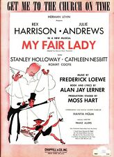 Get Me To The Church On Time Sheet Music My Fair Lady Julie Andrews New On Sale